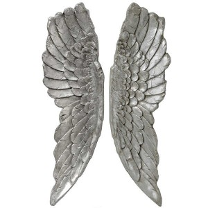 Antique Silver Large Angel Wings