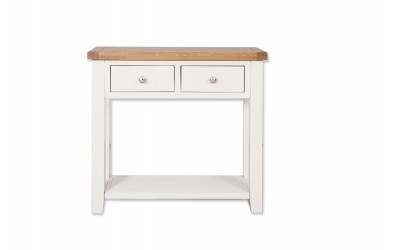 Perth Painted white 2 Drawer Console Table