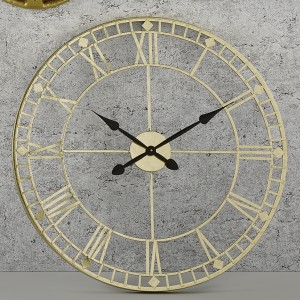 Antique Gold Skeleton Clock