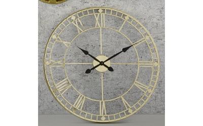 Antique Gold Skeleton Clock