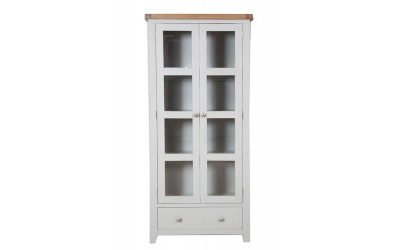 Perth Painted Grey Display Cabinet