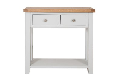 Perth Painted Grey 2 Drawer Console Table