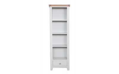 Perth Painted Grey Slim Bookcase