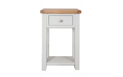 Perth Painted Grey 1 Drawer Console Table