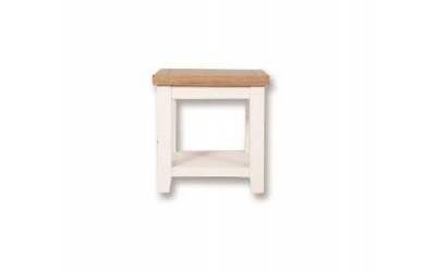 Perth Painted White Lamp Table