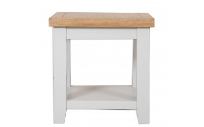 Perth Painted Grey Lamp Table