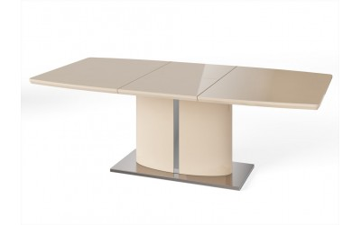 Flaire High Gloss Extending Dining Table Cream 1.6 - 2.2m