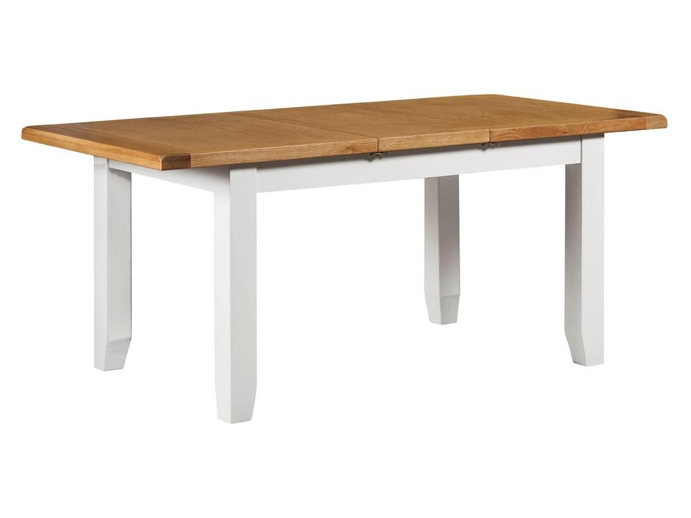 Ivory Oak Medium Extending Dining Table East Kilbride