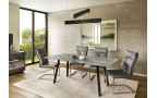 Sergio Grey Glass Extending Dining Table