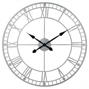 Antique Silver Skeleton Clock