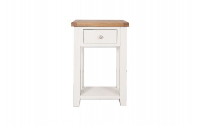 Perth Painted White 1 Drawer Console Table