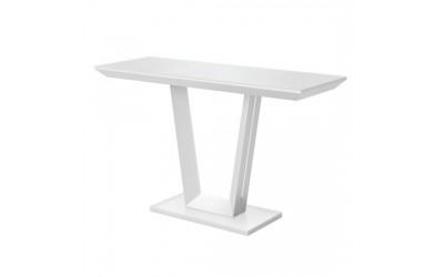 Visenna White Matt Glass Console Table